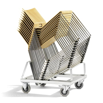 Stackable chair for living area and public area