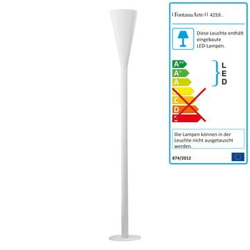 FontanaArte - Riluminator LED floor lamp in white