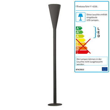 FontanaArte - Riluminator LED floor lamp in dark grey