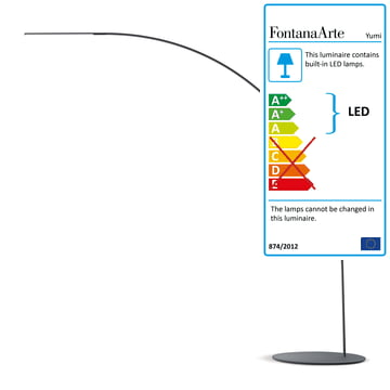 Yumi LED floor lamp by FontanaArte in black