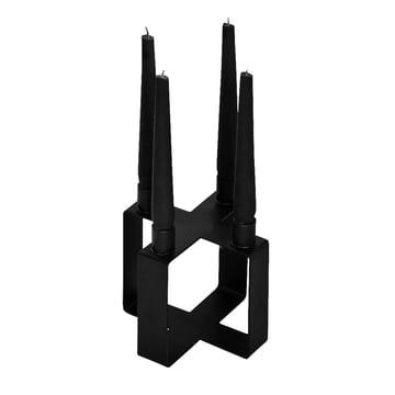 Frame 4 candleholder cross by Novoform in black