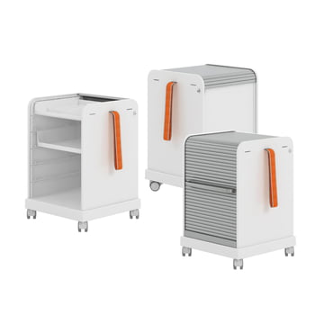 Ad Hoc Follow Me roll container by Vitra