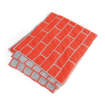 Pulpo - brick blanket, spicy red / light grey