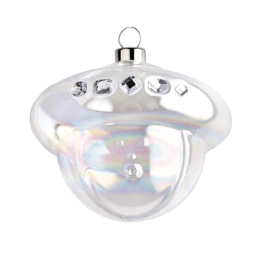 Baldassarre Christmas Bauble by A di Alessi in silver