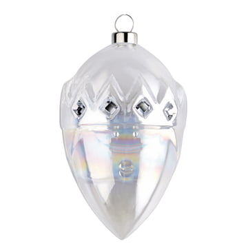 Gaspare Christmas Bauble by A di Alessi in silver