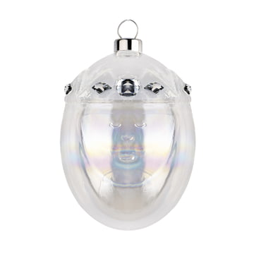 Melchiore Christmas Bauble by A di Alessi in silver