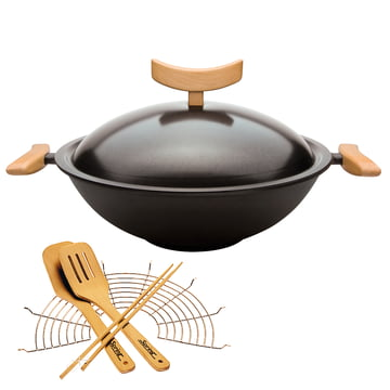 Cast Wok with Accessories (6 pcs.) by Spring