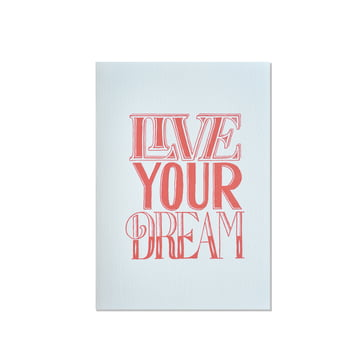 Sean Wes Artist Series Greeting Cards - Live Your Dream by Holstee