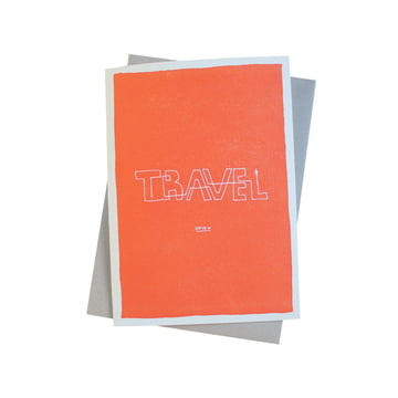 Color block wisdom card Travel Often by Sascha Mombartz for Holstee