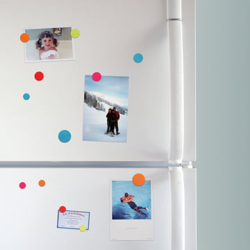 Coloured magnets for the refrigerator