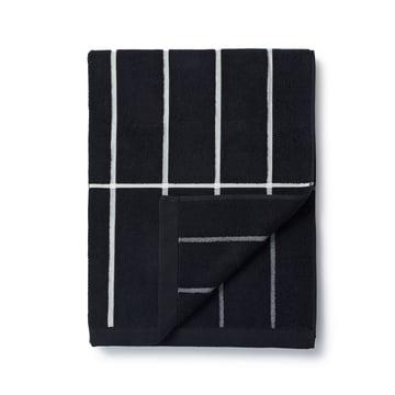 Marimekko - Tiiliskivi bath towel 75 x 150 cm in black/white