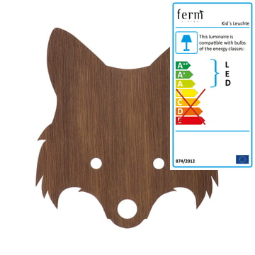 Fox wall lamp by ferm living made of smoked oak wood