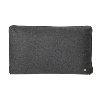 Wool cushion 60 x 40 cm by ferm Living in dark grey