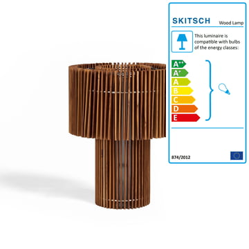 Wood Lamp Floor and Table Lamp by Skitsch in small size