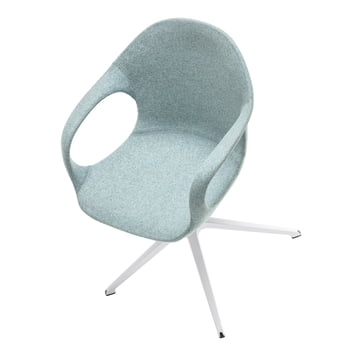 Elephant chair with swivel base and fabric cover