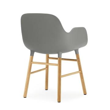 Normann Copenhagen - Form Armchair, Wood Legs, oak grey
