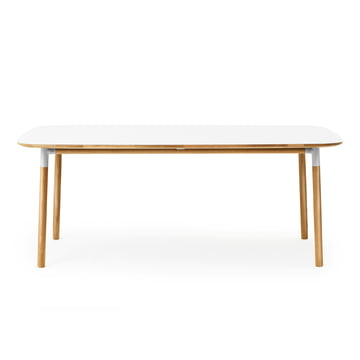 Form table 95 x 200 cm by Normann Copenhagen made of oak in white
