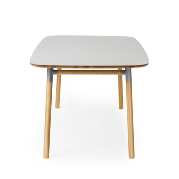 Form table 95 x 200 cm by Normann Copenhagen made of oak in grey