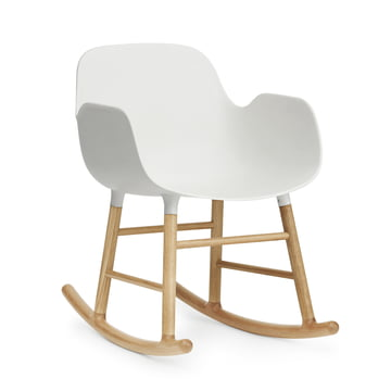 Form rocking armchair by Normann Copenhagen made of oak in white