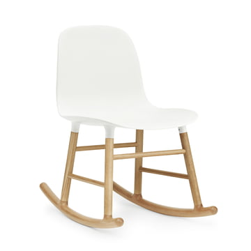 Form Rocking Chair by Normann Copenhagen made of oak in white