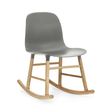 Form Rocking Chair by Normann Copenhagen made of oak in grey