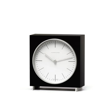 Max Bill Quartz desk clock by Junghans in black