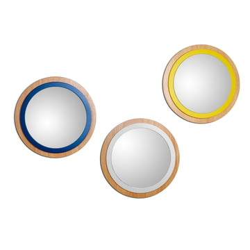 Mirror by The Hansen Family in cream white, blue and yellow