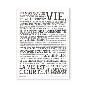 Holstee - Poster White Manifesto French, large