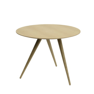 Maigrau - TURN HIGH side table made from clear lacquered natural oak wood.