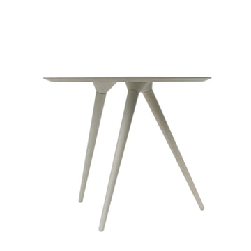 TURN HIGH side table by Maigrau made from white painted ash wood.