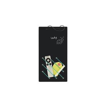 IThreeByThree - Kanga chalk board with rubber band