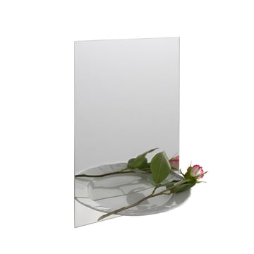 Details - Half Portion Wall Mirror with Tray