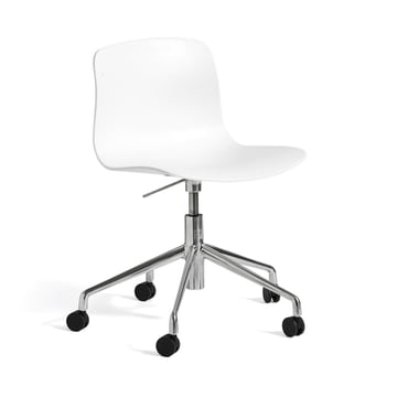 Hay - About A Chair AAC 50 with gas lift, polished / white
