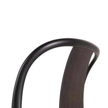Detail view of the Belleville Chair Wood by Vitra