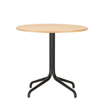 Belleville Bistro Table, round, Ø 79.6 cm by Vitra in light oak veneer