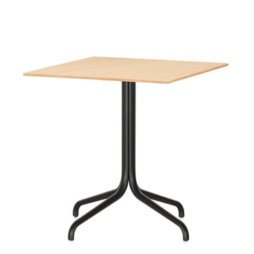 Belleville Bistro Table, square, 75 x 75 cm by Vitra in light oak veneer
