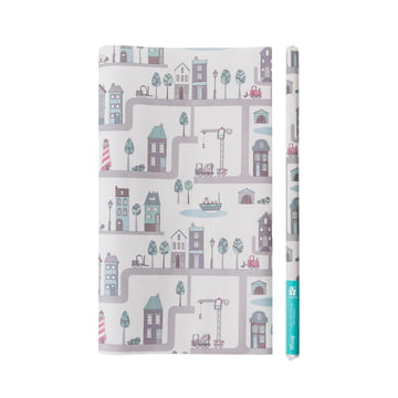 Wrapping Paper Village by Sebra for boys