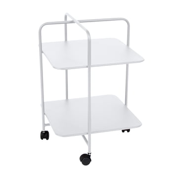 Alfred Side Table on wheels in cotton white by Fermob