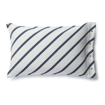 The Mint Cushion Cover by Marimekko with a size of 40 x 60 cm in grey white / dark blue