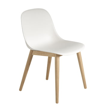 Muuto - Fiber Side Chair Wood, oak / white