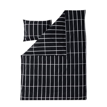 Tiiliskivi pillow cover and duvet cover by Marimekko in black / white