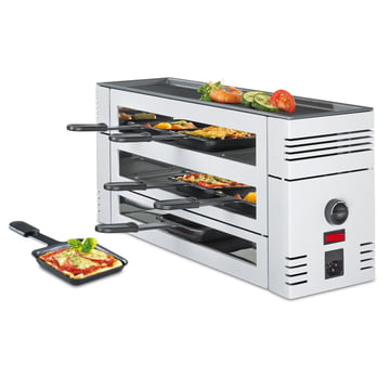 Spring - Pizza Raclette 6 with aluminium grill, white