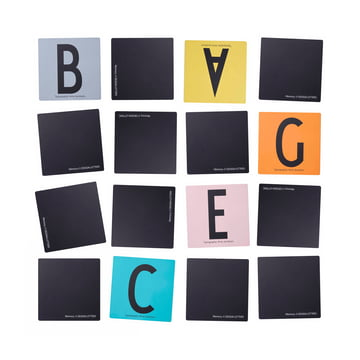 Design Letters - AJ Memory Game, sprawled, white background