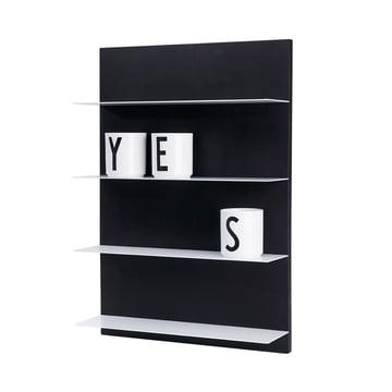 Design Letters - Black Paper A2 Shelf, AJ porcelain mug