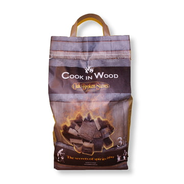 BBQ wood from oak staves (3kg package) by Cook in Wood