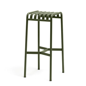 Palissade bar stool by Hay in olive