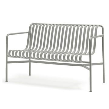 The Palissade Dining Bench by Hay in light grey