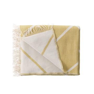 by Lassen - Mesch Woollen Blanket, mustard coloured