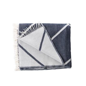 by Lassen - Mesch Woollen Blanket, navy blue