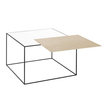 by Lassen - Twin 49 Side Table, white / oak